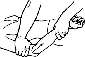 Рис. 29. Прием «растяжение» на верхней конечности